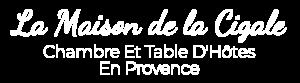 logo blanc chambre d'hote dans le Var en Provence Verte